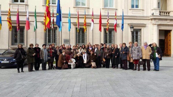 Excursion damas de Gredos visita al senado Madrid